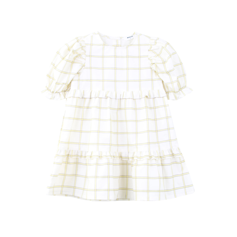 20 Summer check puff onepiece (2차 입고, 당일발송)