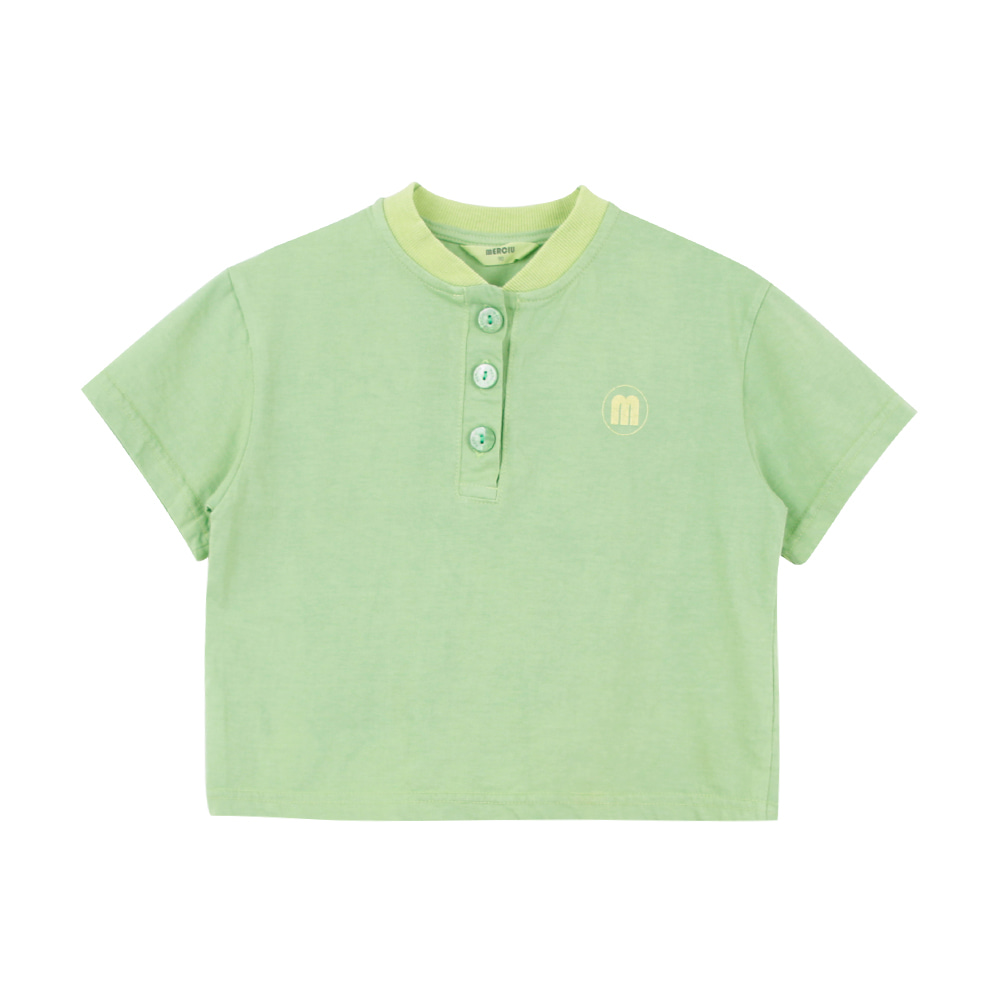Merciu button shirt - green (2차 입고, 당일발송)