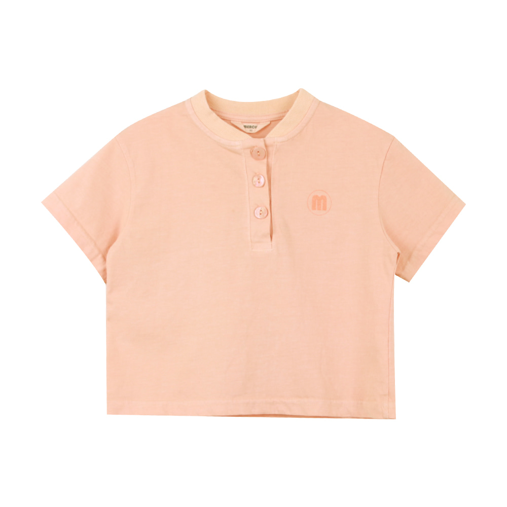 Merciu button shirt - orange (2차 입고, 당일발송)