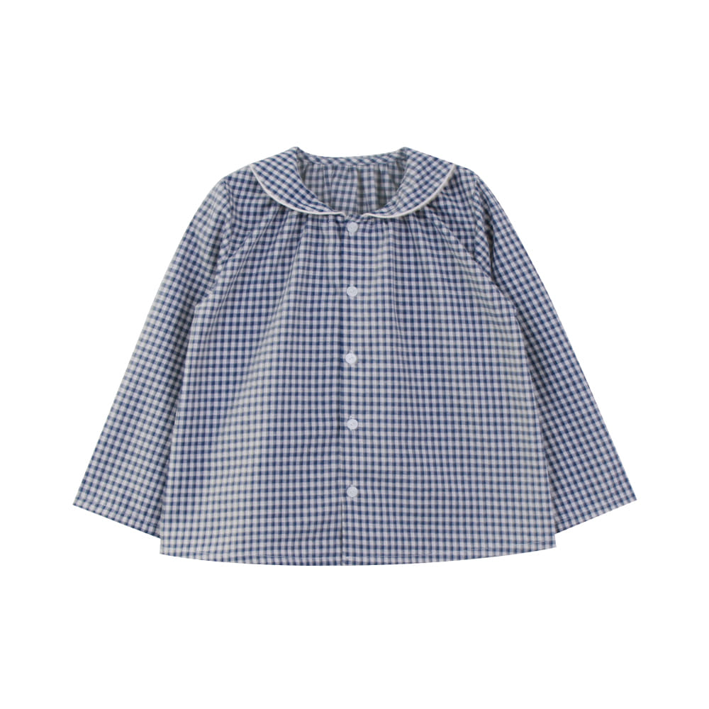 Round collar check shirt (2차 입고, 당일발송)