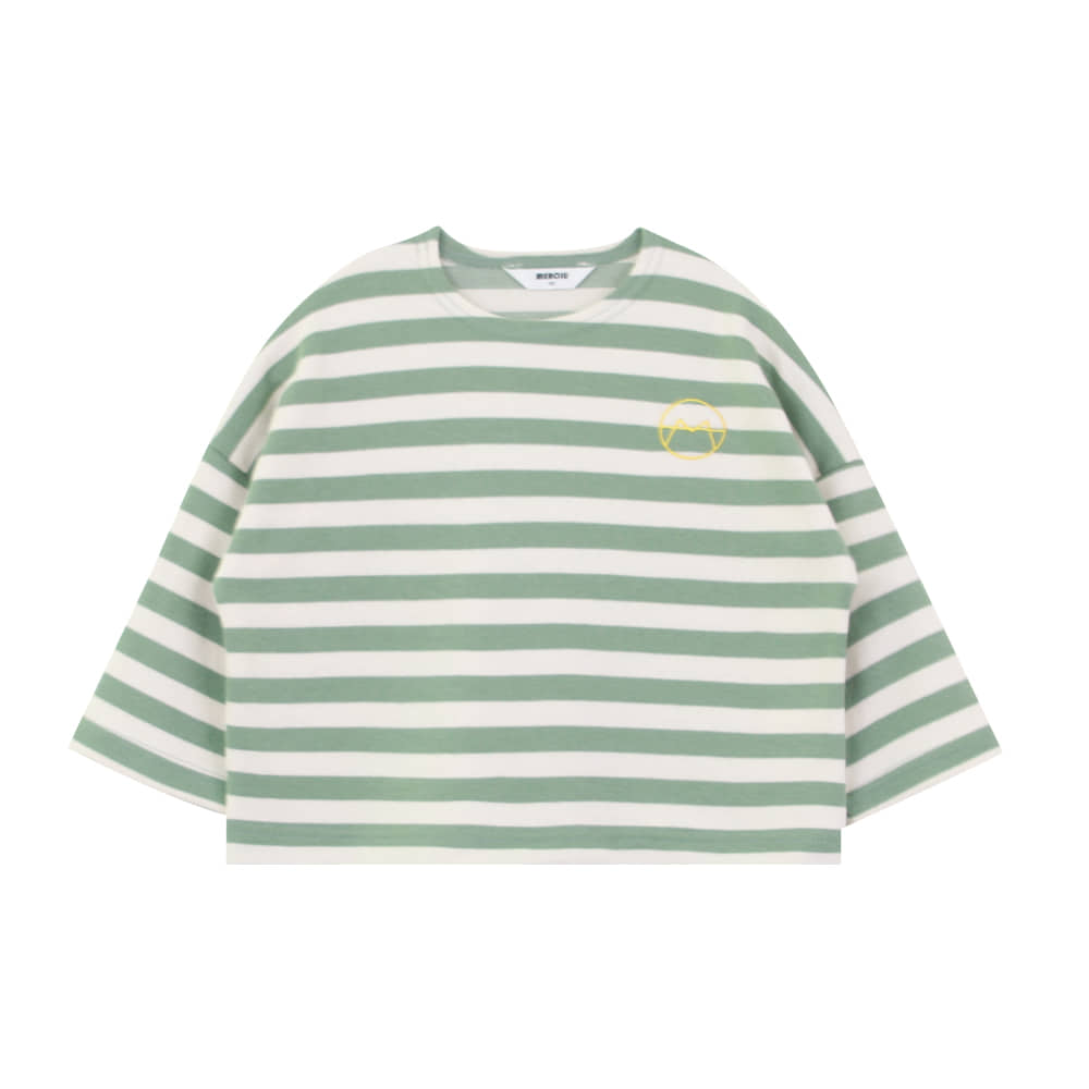 20 F/W Basic stripe t-shirt - green (3차 입고, 당일발송)