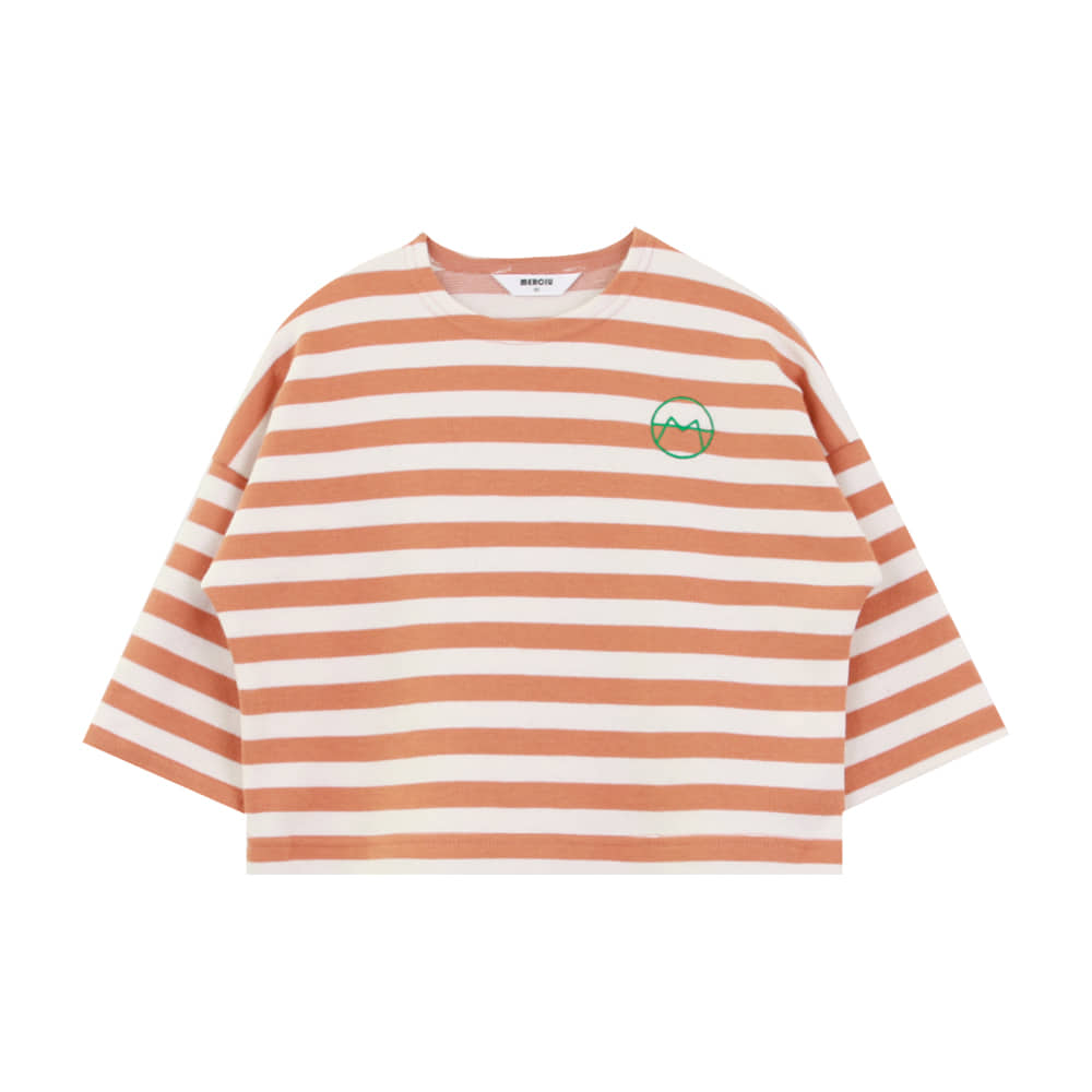 20 F/W Basic stripe t-shirt - orange (3차 입고, 당일발송)
