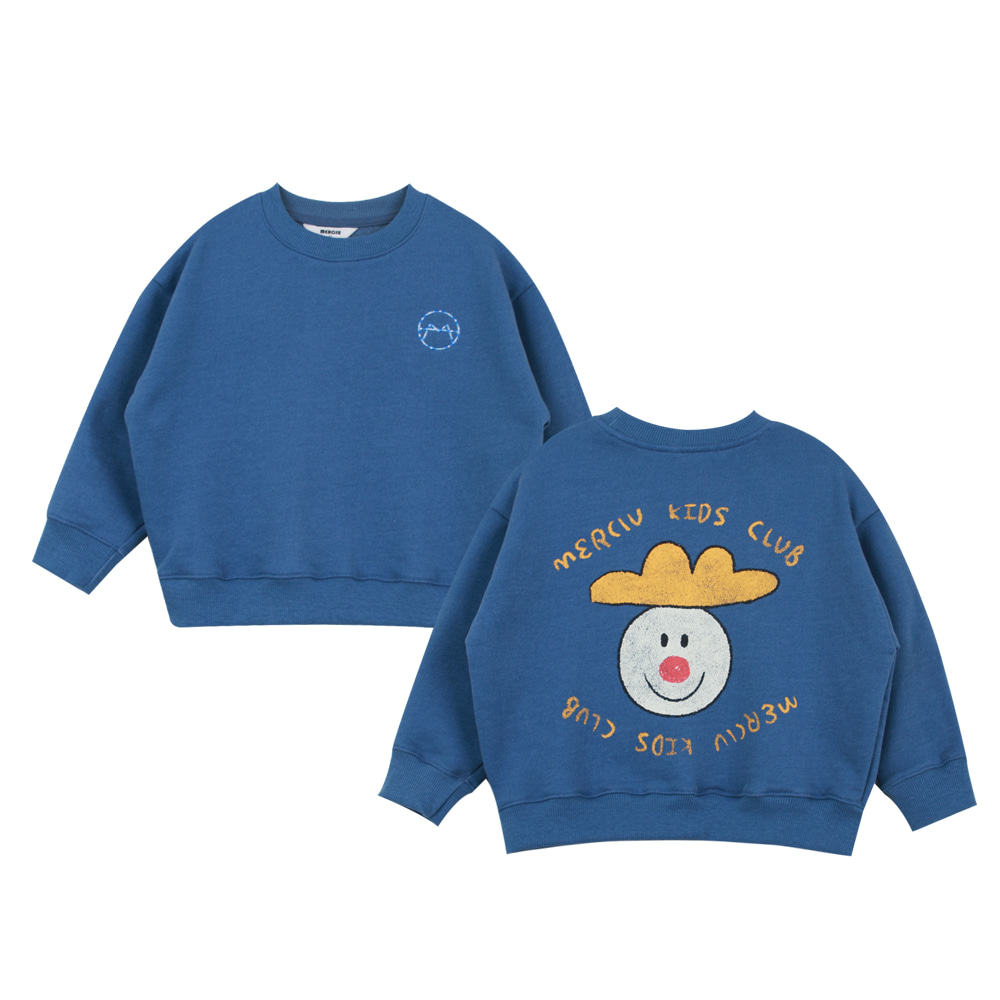 Merciu vintage washing sweatshirt - blue (프리오더)