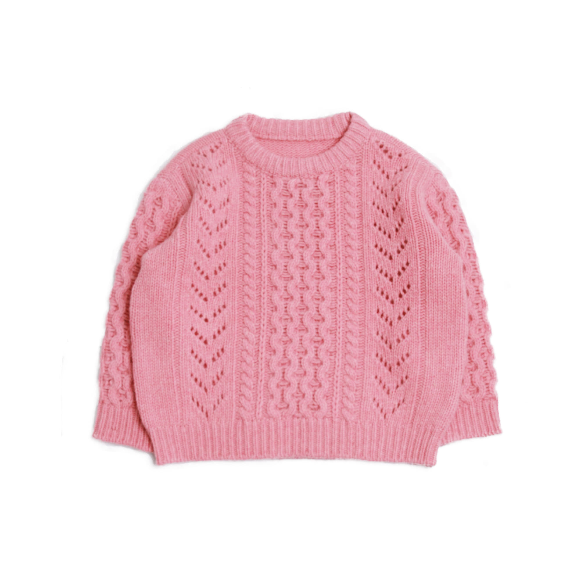 Cable knit - pink (2차 입고, 당일발송)