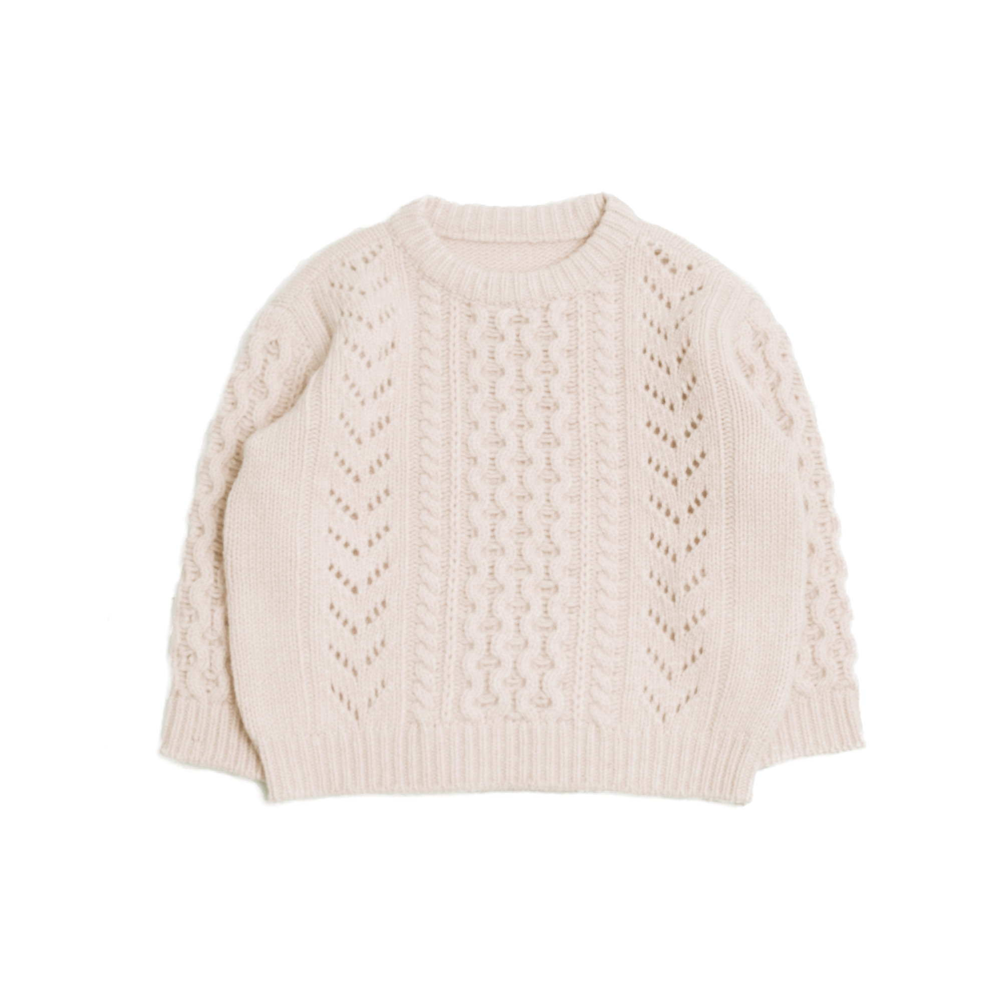 Cable knit - ivory (2차 입고, 당일발송)