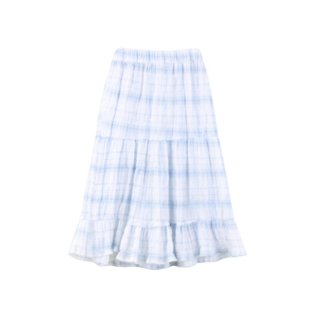 20 summer blue check skirt (2차 입고, 당일발송)
