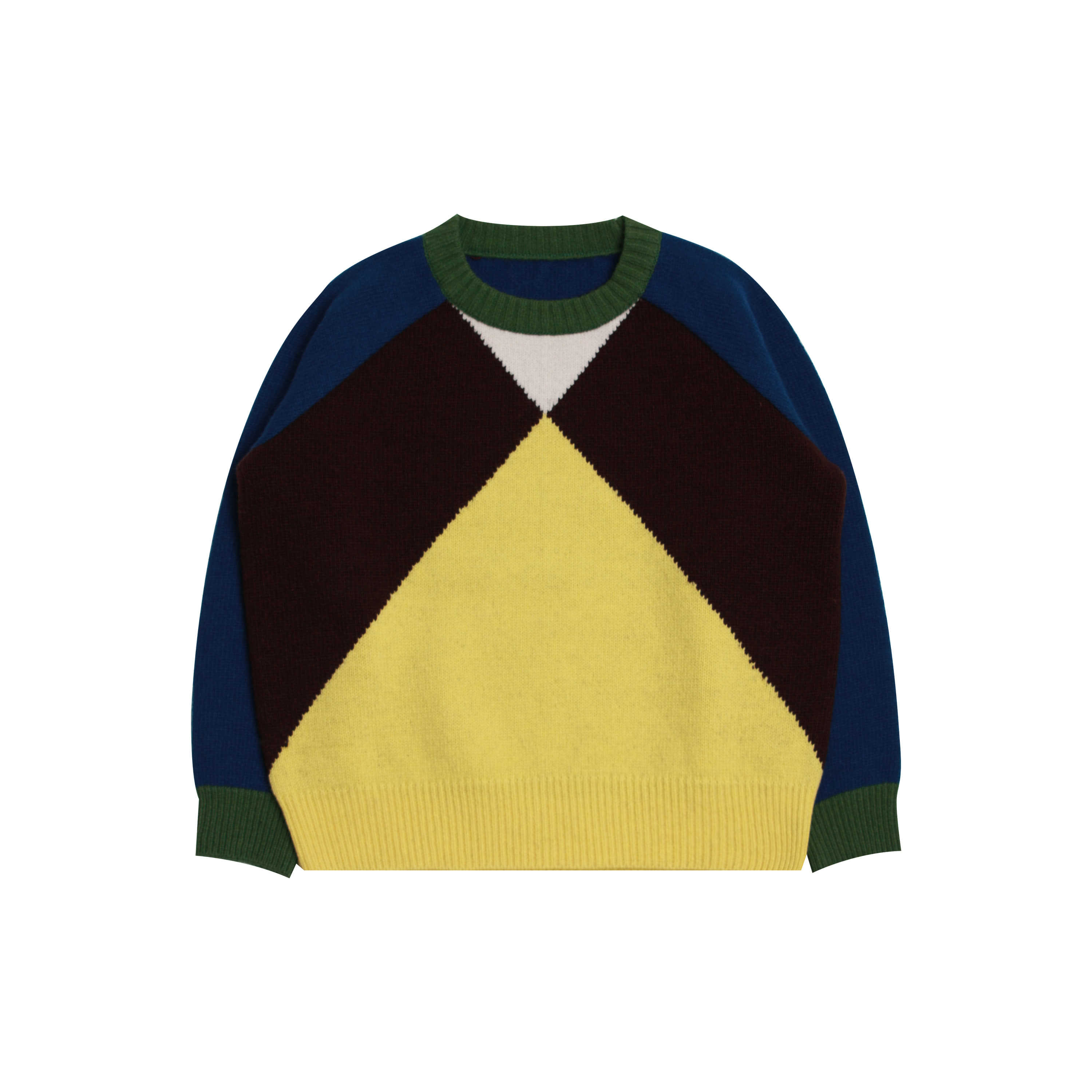 Color block knit (2차 입고,당일발송)